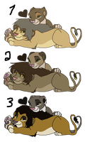 Lion Couple 9- Closed by oCrystal