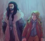 Thorin and Bilbo by MadJesters1