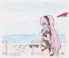 Luka's Beach day by NisuKitsune