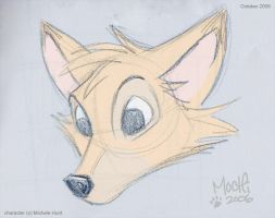 fox head sketch by Mochiroo