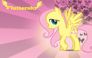 Fluttershy Wallpaper by 30ColoredOwl