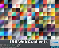 150 Web Gradients by FakeFebruary