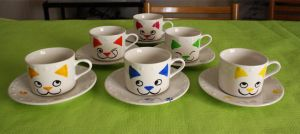 Kitty teacups by camaseiz