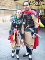 Lucca Comics: Mulan and Shang by FlamiatheDemon