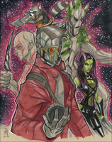 Guardians of the Galaxy by Hodges-Art