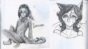 Donavon and Alley sketches by angelmermaid