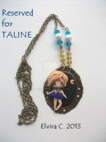 Sailor Uranus necklace (on commission) by elvira-creations