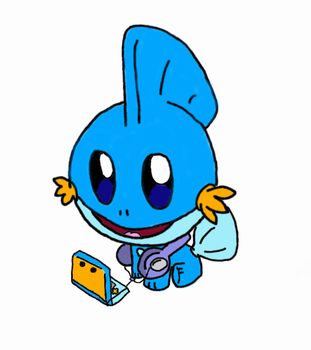 Mudkip on the 3DS (color) by SkipperKippz456