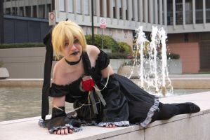 Len Kagamine - Imitation black by Suika-cosplay