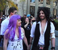 Russell And Katy Zombie Walk by xZowieBowiex