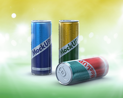 Energy Drink Can Mockup by coloformia