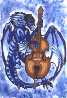 Blues Dragon - Art Trade by HannuBananu