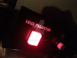 My K.I.T.T.s Voice Projection Button Installed by sicklilmonky
