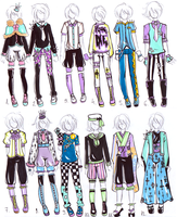 -CLOSED- MALE Pastel goth OUTFITS by Guppie-Adopts