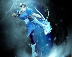 'Request' Chun-li Wallpaper by AXel-KL