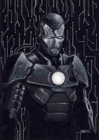 iron man noir by LucaStrati