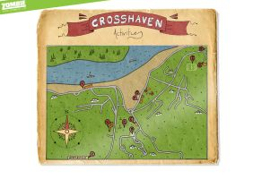 Crosshaven Map Illustration by ZOMBIEie