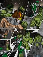 Hulk comic page 7 color by hiasi