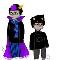 Eridan and Karkat by CrazySeagirl
