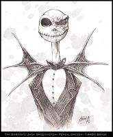 Jack Skellington sketch by andybrase