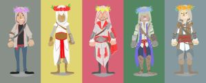 Assassins and flower crowns by Panfake