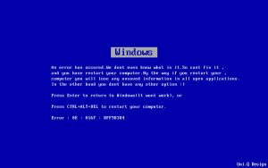 Blue Screen Of Death Wallpaper by Lucifer666mantus