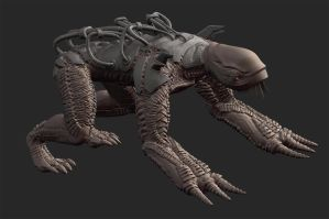 zbrush creature almost done by liamslackofsurprise