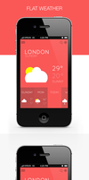 Flat Weather Application by SaturnDesigns