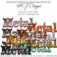 High Gloss Metal Styles by HGGraphicDesigns