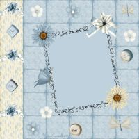 papersheet sweet blue by Ecathe