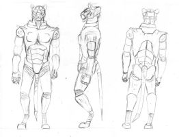 Andaro Ref Sheet-Pencil Sketch by Night-Forager