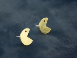 Pac Man Studs by obsidiandevil