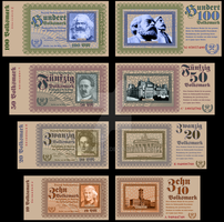 People's Republic of Germany Banknotes (Ser. 1933) by pmbasehore