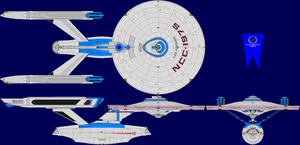 USS Coronado Refit Multi-View by captshade