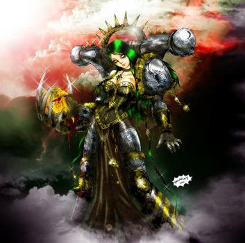 Chaos Lady Iron Warrior by Axcido