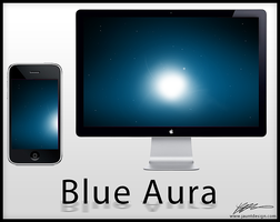 Blue Aura - Wallpaper by Kevdanclay
