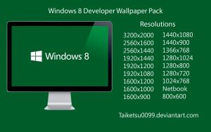 Windows 8 Developer Wallpaper Pack by Taiketsu0099 by Taiketsu0099