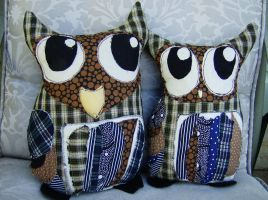 Patches Owl Family by InkyDreamz