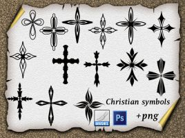 Christian symbols by roula33