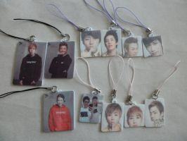 Block B cell phone charms by ribbonfairy