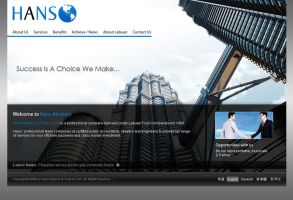 HANS worldwide website mockup by projectDC