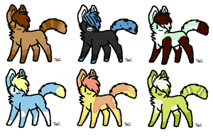 Cat Point Adopts - 3 left! by BlueJayAdopts