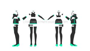 MMD Ninja Outfit Adoptable~! [Closed] by TheChaoticMuffin
