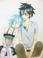 Gruvia Water Color by Namida-no-Shinju