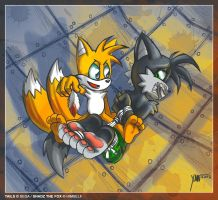 AT with ximonr: Shadz and Tails by Shadz-the-Fox