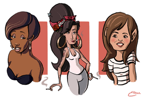 Female Caricatures by JollyRoad