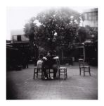 four chairs under one tree by Y4why