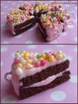rainbow chocolate cake charms by citruscouture