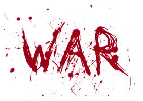WAR typography by Bella-B