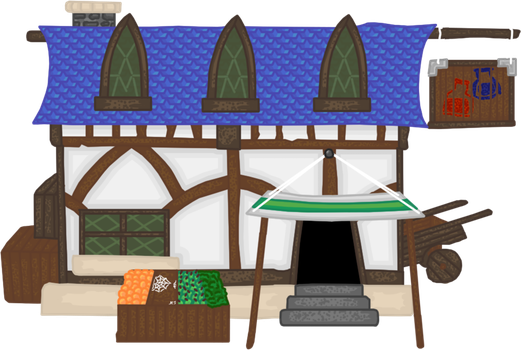 Knightmare Realm: General Store by Lord-Varian